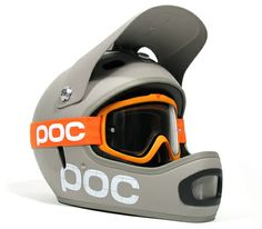 Poc goggles and helmet Freeride Mountain Bike, Mountain Biking, Poc Goggles, Mountain Bike Reviews, Helmet Head, Head Hunter, Headgear, Ducati, Modern Minimalist