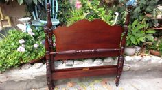 1944 Hand made antique Mahogany Twin by Youniqueattictreasur