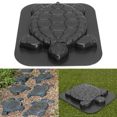 Creative Concrete Cement Mold, Turtle Design Stepping Stone Mould Paving Mold for Garden Park Path Walk Way Image 1 of 8 Concrete Cement, Concrete Projects, Concrete Crafts, Concrete Garden Ornaments, Garden Steps, Easy Garden, Garden Edging, Garden Stepping Stones, Concrete Stepping Stones