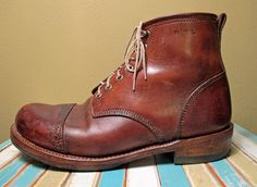 RRL Bowery boots in natural.