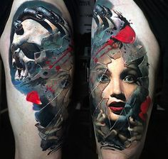 Tattoo Valentina Ryabova - tattoo's photo In the style Realistic, Male, Girls, Skul Modern Tattoos, Dope Tattoos, Great Tattoos, Beautiful Tattoos, Black Tattoos, Body Art Tattoos, Evil Tattoos, Inspiring Tattoos, Awesome Tattoos