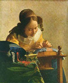 Jan Vermeer - La dentellière
