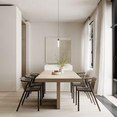 Kitchen Dining Room, Dining Table, Interior Design, Kitchen, Furniture, Home Decor, Case Study, Nest Design, Cooking