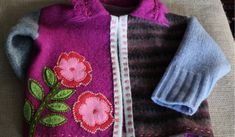 upcycled wool felted sweater | by Regina Moore