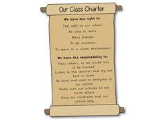 Editable Class Charter Scroll