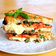Simple & delicious: caprese grilled cheese.