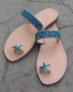 Blue dream / Handmade Ancient Greek Leather Sandals / Summer Flat Shoes / Gladiator Spartan Flip Flops by OneironPraxis on Etsy https://www.etsy.com/listing/234009263/blue-dream-handmade-ancient-greek