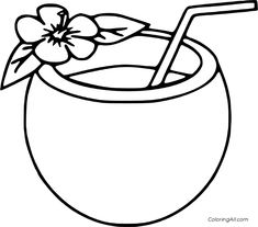 8 free printable Coconut coloring pages in vector format, easy to print from any device and automatically fit any paper size. Vector Graph, Vector Format, Fruit Coloring Pages, Coconut Drinks, Paper Size, Free Printables, Journal, Stickers, Usa