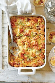 Delicious Day-After Thanksgiving Breakfast Casseroles: Cheesy Sausage-and-Croissant Casserole