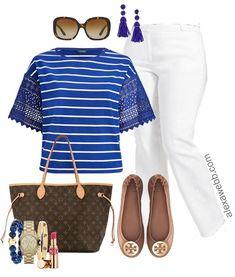 9f97b6b6692 Plus Size White Pants Work Outfit - Plus Size Workwear - Plus Size Fashion  for Women