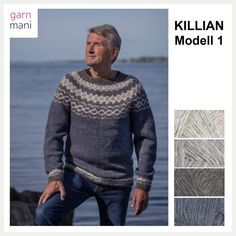 no - Spesialist på islandsk ull Pullover, Men Sweater, Crochet, Fox, Knitting, Sweaters, Design, Fashion, Man Style