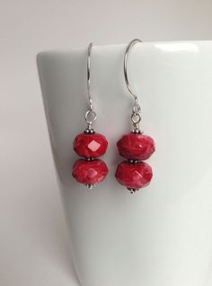 Chunky Red Malaysian Jade and Sterling by TheBeadtiqueJewelry, $24.00