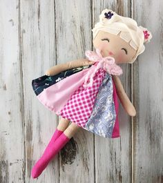 Lark SpunCandy Doll Handmade Doll Rag Doll Nursery by SpunCandy
