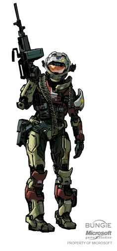 Spartan; This is an example of play because in Halo, you get the feel of doing role play, and getting to see what's it's like to be in that person's shoes by playing in first person.