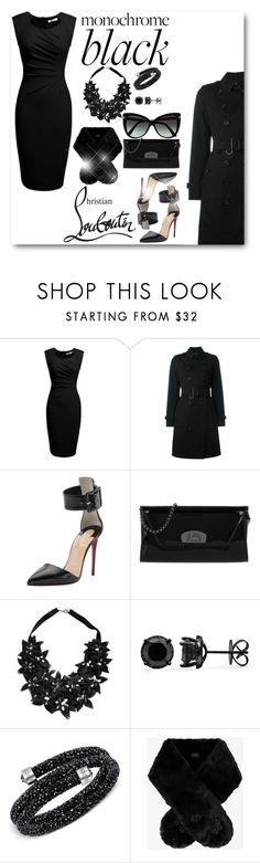 Christian Louboutin In Black by laaudra-rasco on Polyvore featuring Burberry, Christian Louboutin, Stefanel, Swarovski, Simone Rocha and Tom Ford