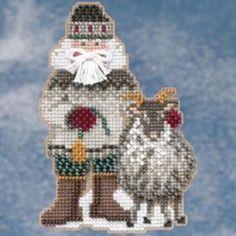 Greenland Santa Bead Ornament Kit Mill Hill 2009 Arctic Circle Santas #MillHill #Ornament #Christmas