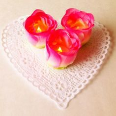 Make little lovely floral tea lights with supplies from the dollar store.