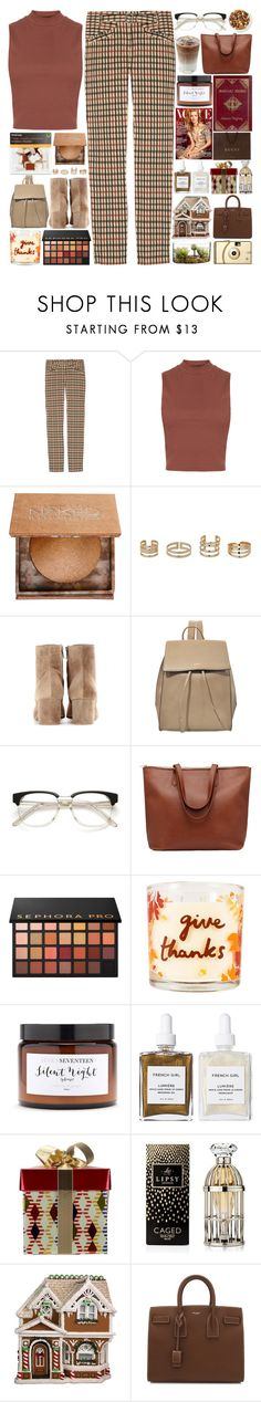 """""""6372"""" by tiffanyelinor ❤ liked on Polyvore featuring Daks, Topshop, Urban Decay, Miss Selfridge, Gianvito Rossi, DKNY, Sephora Collection, SONOMA Goods for Life, Silent Night and Theory"""