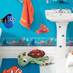 Disney Nemo Room Appliques I Want This For My Classroom Is That Wrong Finding Nemo Bathroom D