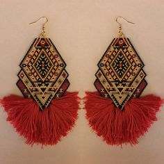 MADE TO ORDER: Karastan Queen Earrings
