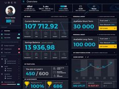 "Financial Dashboard for ""Uber"" Datas"
