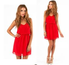 Solid Spaghetti Strap Dresses Summer Outfits Women, Summer Dresses, Spaghetti Strap Dresses, Women's Summer Fashion, Cheap Dresses, Summer 2015, Chiffon Dress, Sexy Women