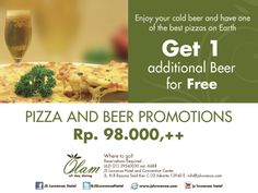 Pizza And Beer Promotions Jsluwansa Hotel Food Drink Eat Dine