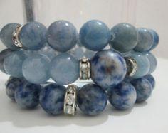 Bracelet gemstone variastodos signos de zodiaco by Lenajoyas