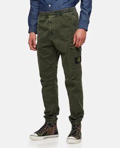 Men's Cotton Cargo Trousers - Stone Island | Biffi