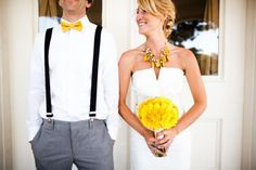love the yellow POP . does anybody know where this pic is from or if there are more photos of this wedding online somewhere? .