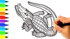 Đồ Chơi Tô Màu, Vẽ Tranh Và Tô màu Con Cá Sấu, How to Draw Crocodile, Co...
