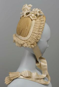 American wedding bonnet, c. 1865. Courtesy of the Museum of Fine Arts in Boston
