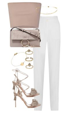 """""""Untitled #2974"""" by theeuropeancloset on Polyvore featuring Givenchy, Calvin Klein Collection, Chloé, Aquazzura, Topshop and Miriam Merenfeld"""