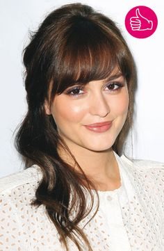 Leighton Meester with bangs