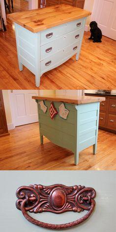 Kitchen Island From Dresser transformed: vintage dresser to kitchen island | dresser, nest and