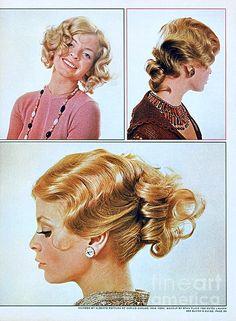 1960 70 Stylish Female Hair Styles Golden Blond