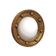 Mirrors Titanic Round Mirror Antiqued Gold Small Accent Mirrors ($95) ❤ liked on Polyvore featuring home, home decor, mirrors, porthole mirror, antique gold mirror, round mirror and circular mirrors