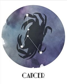Cancer, the Crab - Tattoo Pins Cancer Zodiac Art, Cancer Horoscope, Zodiac Horoscope, Horoscopes, Horoscope Tattoos, Cancer Tattoos, Cancer Crab Tattoo, Cancer Moon, Star Constellations