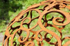 Ornament Kugeln Edelrost | Garten Dekoration in angesagter Shabby-Chic & Vintage Lebensart | BRUNNENSCHMIEDE.DE