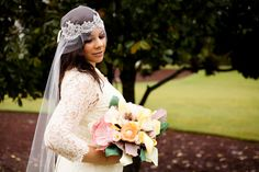 Paper Flower Bouquet Wedding Paper Bouquet Bridal by FioriBelle