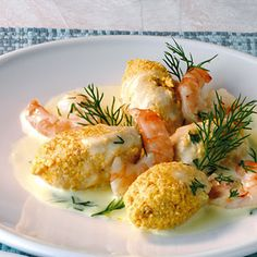 Lachsklößchen mit Garnelen Rezept | Küchengötter