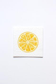 Miniature Watercolor Lemon Painting, Miniature Art, Food Art, Tiny Painting, Fruit Art, Citrus, Orange, Lemon Slice, Yellow, MADE TO ORDER by ArtStuffByJess on Etsy https://www.etsy.com/ie/listing/384624166/miniature-watercolor-lemon-painting