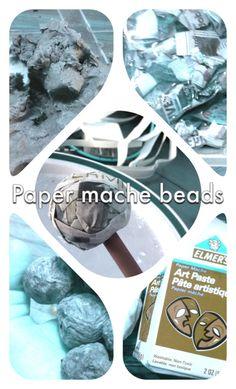 Paper mache beads, crafts, DIY
