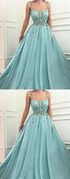 Green tulle long prom dress M4039