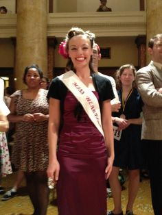 """Just after winning the title of """"Miss Heartland Swing"""" at the Heartland Swing Festival in Des Moines, Iowa.  March 2012"""