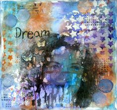 Photo transfer from transparencies - Mixed Media Art Journal page tutorial