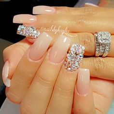 Sexy nails, hot nails, nails on fleek, nude nails, hair and nails Sexy Nails, Hot Nails, Fancy Nails, Bling Nails, Nude Nails, Nails On Fleek, Hair And Nails, Acrylic Nails, Bling Wedding Nails