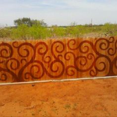 Really cool fence art!