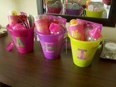 gift basket bucket little girls beach summer 2