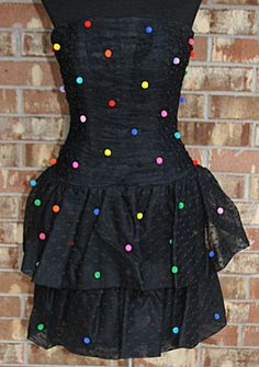 Vintage 80s Victor Costa Tiered Tulle Ruched by mom24kids on Etsy, $70.00